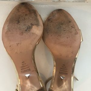 SCHUTZ Shoes - Schutz Metallic Gold Sandal